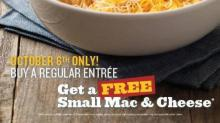 IMAGE: FREE Noodles & Company Mac & Cheese with purchase 10/6