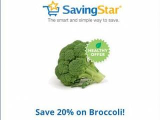 Broccoli discount from Savingstar