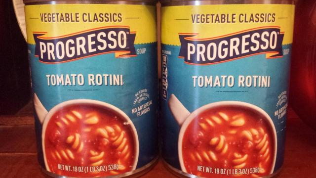 Progresso soup cans