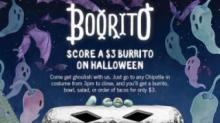 IMAGE: Chipotle $3 burritos on Halloween
