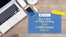 IMAGE: Bluehost web hosting deal through Swagbucks