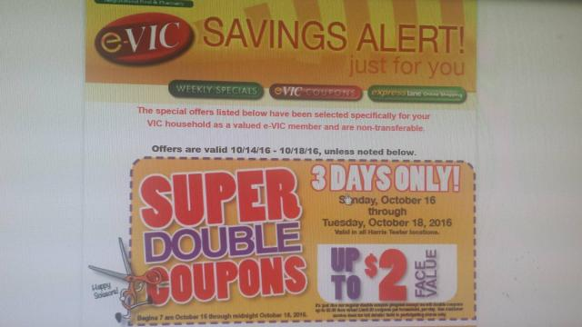 Harris Teeter Super Doubles e-mail confirmation