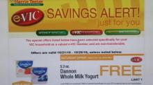 IMAGE: Harris Teeter e-Vic deals: FREE Dannon yogurt