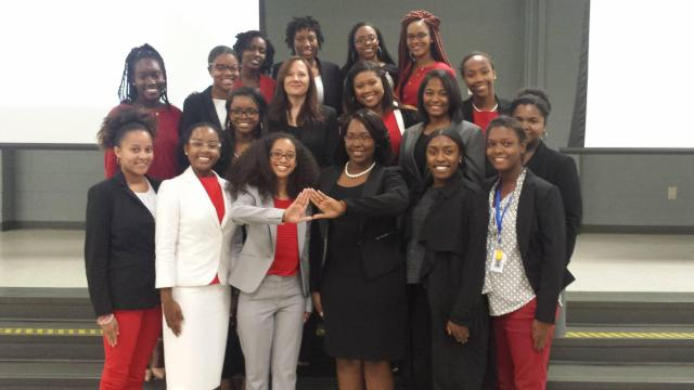 Class hosted by Delta Sigma Theta Sorority at N.C. State 10-24-16