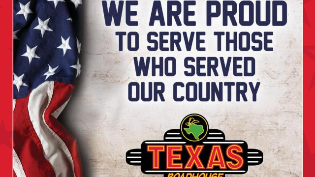 Texas Roadhouse Veterans Day offer