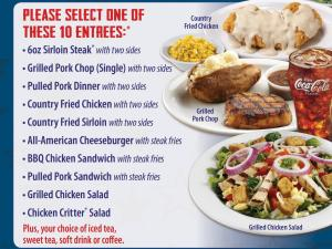 Texas Roadhouse Veterans Day Free Lunch Menu