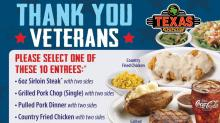IMAGES: Free lunch for military at Texas Roadhouse