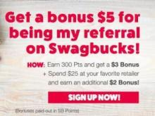 Swagbucks November sign up bonus