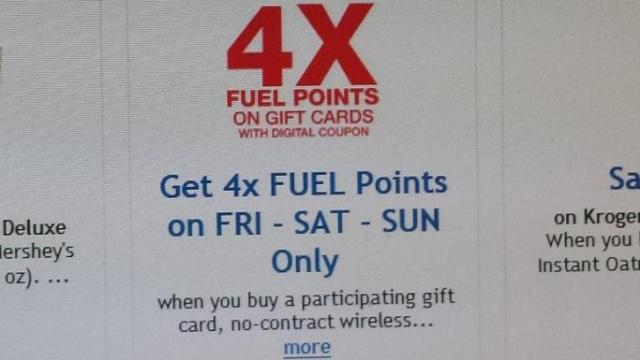Kroger Fuel Points digital coupon