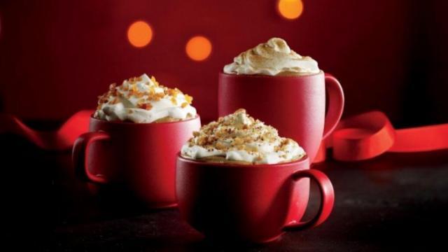 Starbucks holiday drinks (photo via Starbucks.com)