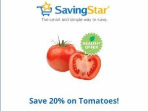 Tomatoes discount from Savingstar