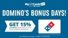 IMAGE: 15% Cash Back on Domino's Gift Cards