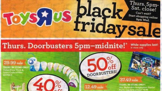 Toys R Us Black Friday ad 2016 (photo thanks to BFAds.net)
