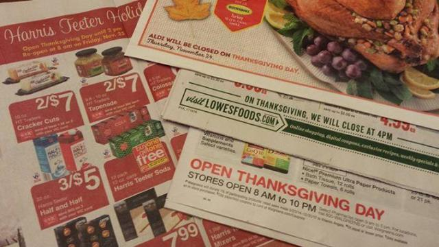 2016 Grocery And Thanksgiving Hours