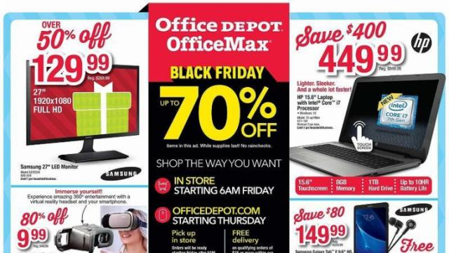 Office Depot Office Max Black Friday Ad