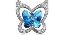 IMAGES: 82% off Blue Butterfly Pendant Necklace