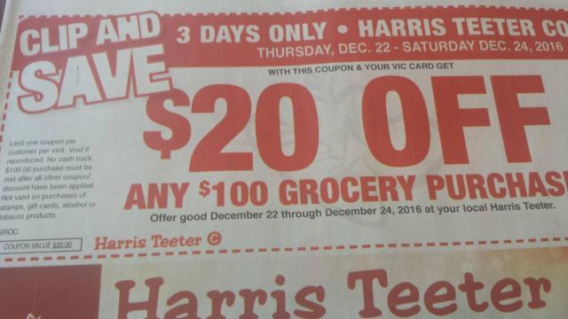 Harris Teeter coupon 12-21-16