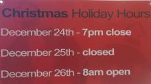 IMAGES: Christmas hours for grocery and drug stores