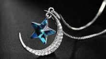 IMAGE: Moon and Star Pendant Necklace 68% off