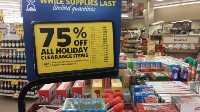 Christmas clearance at Food Lion