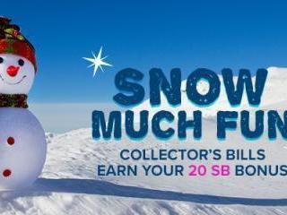 Swagbucks Snow Much Fun Collector's Bills
