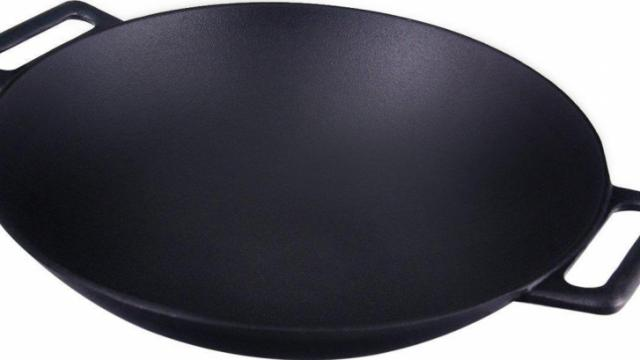 Cast Iron Wok sale at Amazon