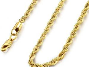 Gold Plated Stainless Steel Necklace