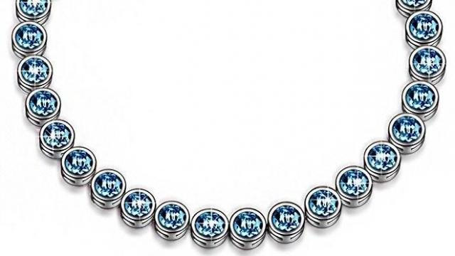 "LadyColour ""Ballad for Adeline"" Blue Tennis Bracelet"