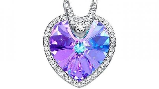 Austrian Crystal Heart Pendant Necklace