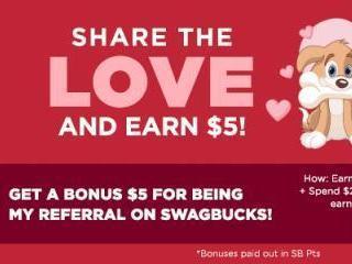 Swagbucks Share the Love February Sign Up Bonus