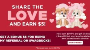 Swagbucks Share the Love February Sign Up Bonus