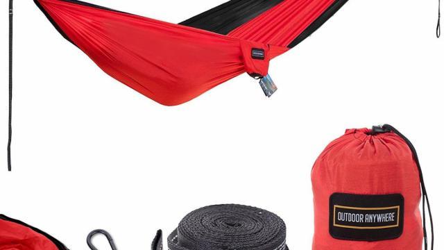 Double Parachute Nylon Camping Hammock