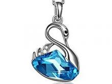 Swan Lake Blue Crystal Necklace