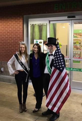 Publix Apex Grand Opening with Publix representative Kim Reynolds, Miss Apex 2014 Sydney Mccoy and the Apex Ambassador. Sydney sang the National Anthem at the Ribbon Cutting on 2/8.