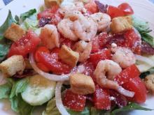 Shrimp on salad