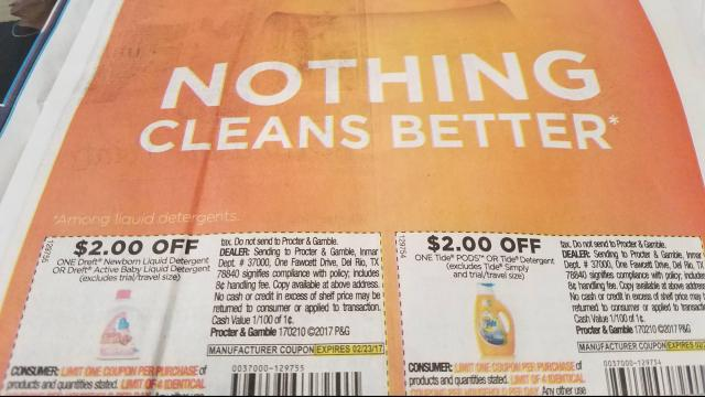 Tide & Dreft coupons inside newspaper Sunday :: WRAL.com