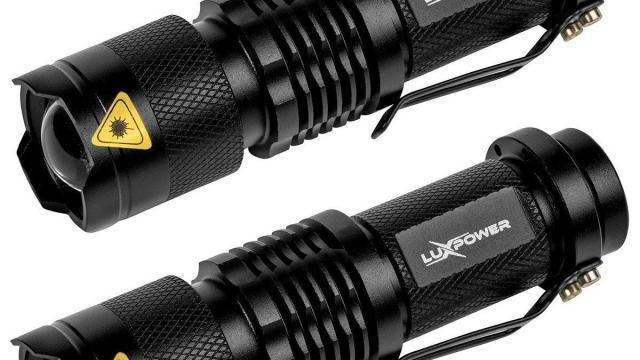 LuxPower Tactical V300 LED Flashlight 2 PACK