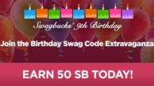 IMAGE: Swagbucks Birthday Swag Code Extravaganza today!