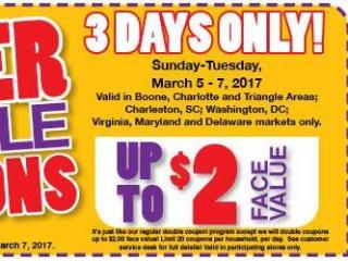 Harris Teeter Super Doubles 3-5-17