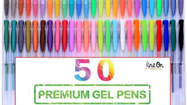 Lineon 50 Color Gel Pen Set