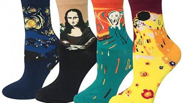 Famous Painting Art Crew Socks 4 pack