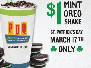 PDQ Mint Oreo Shake Offer