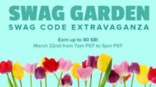 IMAGE: Swagbucks Swag Garden Extravaganza today