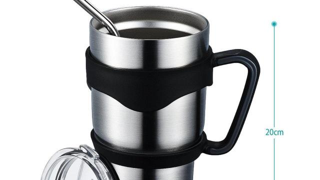 Stainless Steel Insulated Travel Mug, 30 Oz.