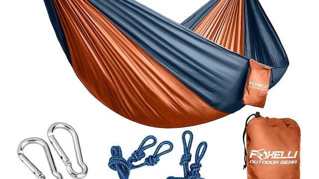 Foxelli 2-Person Ultralight Nylon Portable Parachute Hammock