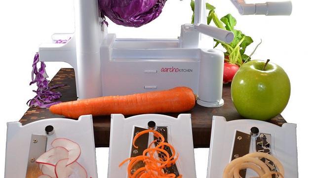 Aarcho Kitchen Spiralizer Tri-Blade Spiral Slicer