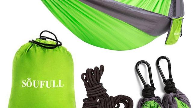 Lightweight Portable Nylon Parachute Hammock
