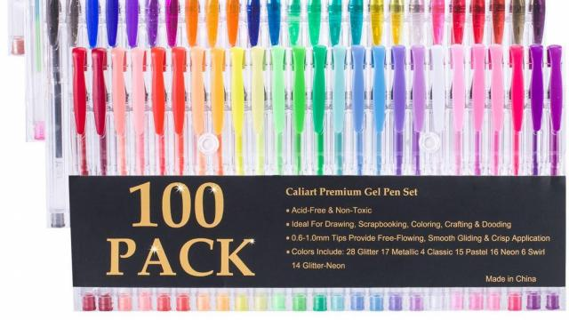 Caliart 100 Gel Pens with Case