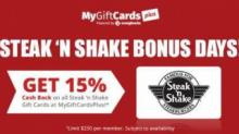 IMAGE: Steak 'N Shake gift card deal