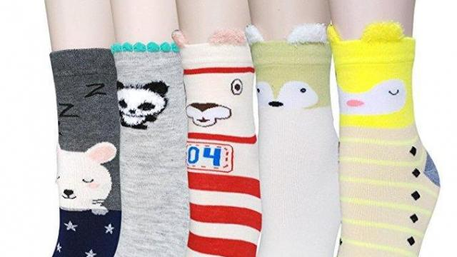 Women's Cute Animal Socks, 5-pairs
